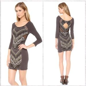 Free People Out of Africa Fitted Mini Dress